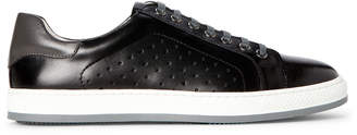 English Laundry Black Harry Perforated Leather Low-Top Sneakers