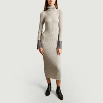 Karine Lecchi - Gray Rainbow Merino Wool Sweater Dress - 38 | gray