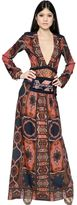 Etro Embroidered Crepe & Brocade Dress