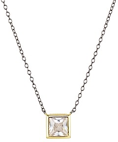 Argentovivo Square Solitaire Pendant Necklace, 16