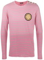 Balmain striped degradé T-shirt