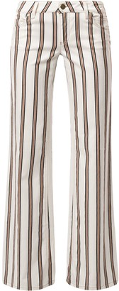 Gucci Pre-Owned Striped Flared Trousers