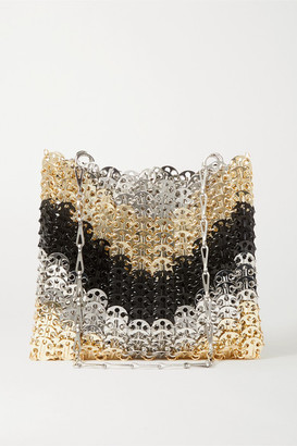 Paco Rabanne Iconic 1969 Paillette-embellished Chainmail Shoulder Bag - Gold
