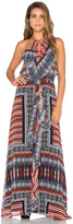 Twelfth Street By Cynthia Vincent Front Ruffle Maxi Dress