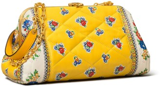 Tory Burch Cleo Quilted Floral Bag