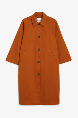 Monki Utility raglan coat