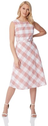 M&Co Roman Originals check print fit and flare dress