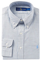Polo Ralph Lauren Fitted Classic-Fit Button-Down Collar Checked Dress Shirt