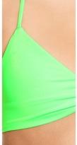 L-Space Neon Lime Mixer Strap Back Bikini Top