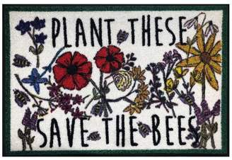 Pottery Barn Save The Bees Indoor/Outdoor Washable Mat