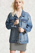 Forever 21 FOREVER 21+ Button-Front Denim Jacket