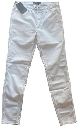 Cycle White Cotton Jeans for Women