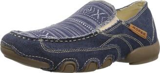 Roper Women's Daisy Driving Style Loafer Blue 6.5 Medium US