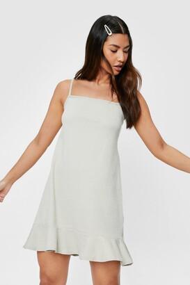 Nasty Gal Womens You Over Hem Ruffle Mini Dress - Black - 4