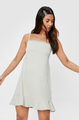 Nasty Gal Womens You Over Hem Ruffle Mini Dress - Pistachio