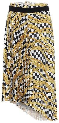 Balenciaga Chain-print wrap midi skirt