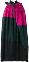 Kolor tricolour skirt - women - Cotton/Nylon - 2