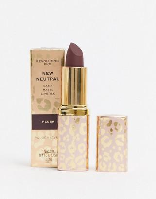 Revolution Pro New Neutrals Blushed Satin Matte Lipstick - Plush