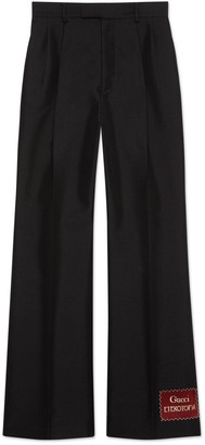 Gucci Wool mohair pant with Eterotopia