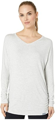 Skechers Vitality Long Sleeve (Gray) Women's Clothing