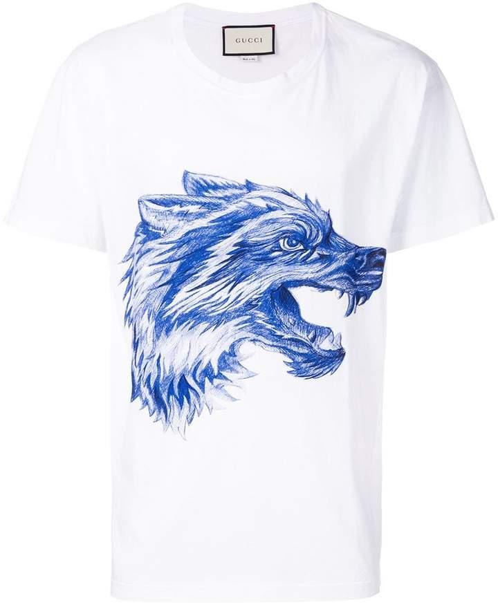 Gucci wolf print T-shirt