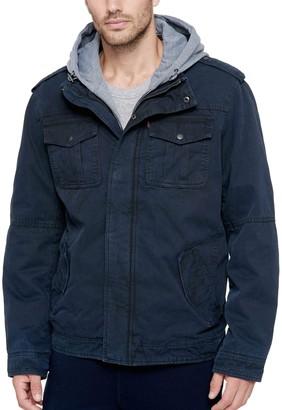 Levi's Men's Sherpa-Lined Hooded Military Trucker Jacket