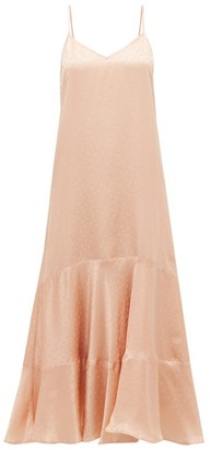 Mes Demoiselles Suite Polka-dot Satin Dress - Light Pink
