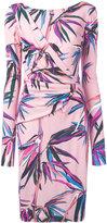 Emilio Pucci draped front midi dress - women - Viscose/Silk - 42
