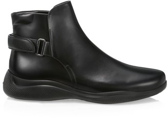 Prada Brushed Leather Boots