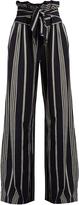 Ace&Jig Paperbag-waist wide-leg cotton trousers