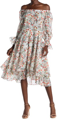 Alice + Olivia Miora Layered Skirt High/Low Dress