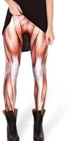 Jiayiqi Women Individuality Muscle Tissue Fitness Bodybuilding Pants Seamless Printed Leggings