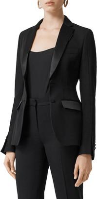 Burberry Otelia Satin Trim Wool Tuxedo Jacket