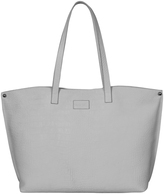 White Embossed Leather Tote