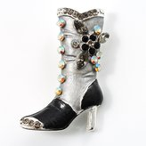 Avalaya Charcoal Crystal High Boot Pin Brooch