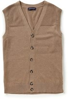 Roundtree & Yorke Solid Button Vest