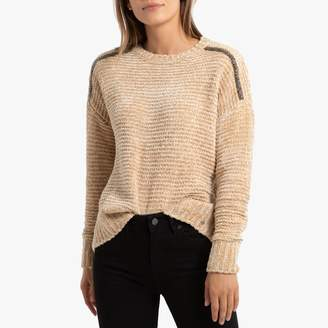 Kaporal Chenille Knit Jumper with Rhinestone Shoulders