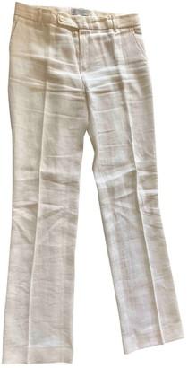 Ballantyne White Linen Trousers for Women