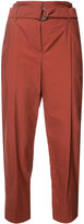 Brunello Cucinelli tapered cropped trousers - women - Cotton/Polyamide - 38
