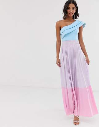 Asos Design DESIGN scuba top colourblock maxi dress-Multi