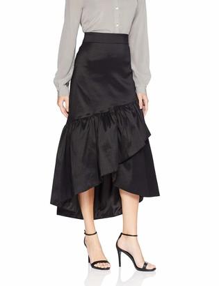 Alex Evenings Women's Taffeta High-Low Overlay Ruffle Skirt