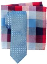 Original Penguin Blue Dot Tie & Pocket Square Set