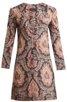 Isabel Marant Xisia Floral-print Lace-up Blouse - Womens - Pink Multi
