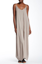 Love Stitch Split Neck Gauze Maxi Dress