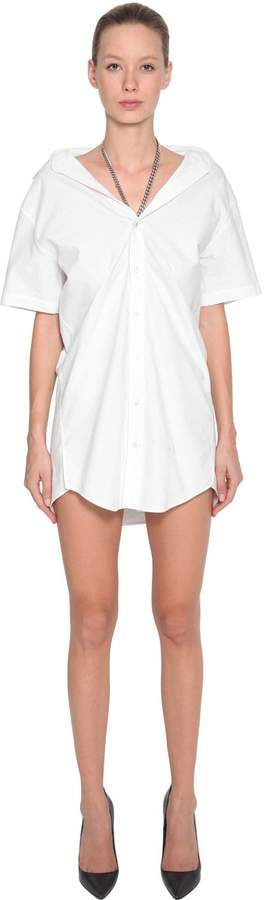 Alexander Wang Chain Strap Cotton Poplin Shirt Dress