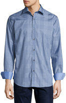 Bugatchi Check-Print Sport Shirt, Sky