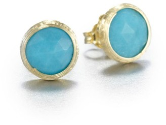 Marco Bicego Jaipur Resort Turquoise & 18K Yellow Gold Stud Earrings
