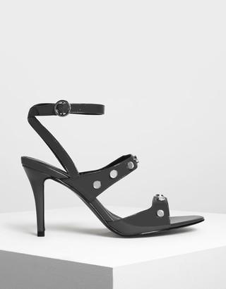 Charles & Keith Stud Detail Heeled Sandals