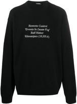 Raf Simons slogan print oversized jumper