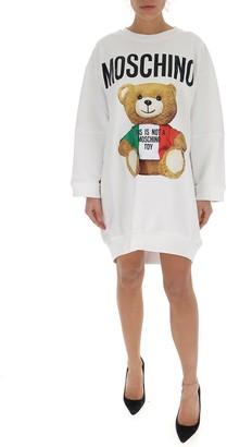 Moschino Teddy Bear Printed Sweatshirt Dress